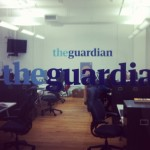 Das Büro des Guardian US am späten Abend
