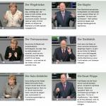 Die Gesten von Angela Merkel und Peer Steinbrück - als animierte GIFs