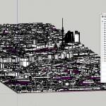 Original 3D-Modell der Stadt Berlin in Sketchup