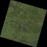 Beispiel: Landsat-8-Satellitenaufnahme (im Nordwesten ist Berlin zu sehen)